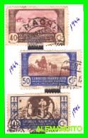 ESPAÑA - PROTECTORADO DE MARRUECOS  (EUROPA ) 3 SELLOS AÑO 1944-46 - Maroc Espagnol