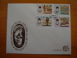 TANZANIA 1977 FESTIVAL ARTS & CULTURE Issue Official Illustrated FDC With FULL SET FOUR Values. - Tanzania (1964-...)