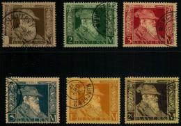 1911, Luitpold Markwerte Komplett Gestempelt. Alle In Type I, Michel Ca. 330,- - Bavaria