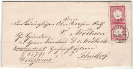 1872, Portopflichtige Dienstsache Mit Senkrechtem Prachtpaar 1 Groschen Großer Brustschild Entwertet BERLIN P.A. 46 (KBH - Allemagne