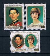 Aitutaki 1981 Royal Wedding - Charles Und Diana Mi.Nr. 409/11 Kpl. Satz ** - Aitutaki