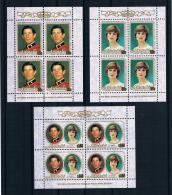 Aitutaki 1981 Royal Wedding - Charles Und Diana Mi.Nr. 409/11 Kleinbogensatz ** - Aitutaki
