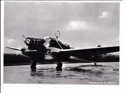 "WW II Foto Deutsche Luftwaffe Flugzeug Focke - Wulf 58 "" Weihe "" 18 X 13 Cm - 1939-45"