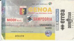 DOC1) BIGLIETTO INGRESSO STADIO SAMPDORIA GENOA DERBY 2001 2002 CALCIO FOOTBALL - Biglietti D'ingresso