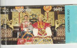DOC1) CARNET BIGLIETTO INGRESSO STADIO SAMPDORIA 1994/95 CON ANCORA UN TAGLIANDO DI PRELAZIONE CALCIO FOOTBALL - Biglietti D'ingresso