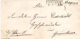 L107  Inowraclaw  Cachet 2 Lignes Encadrées Pour Gniewkowo  1853? - [1] Prephilately