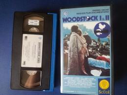 M#0R46 MUSICA CONCERTI - WOODSTOCK I & II VHS - Concert & Music