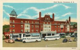 Etats-Unis - Bus - Autobus - Voitures - Automobile - New Hampshire - Hotel Moody - Claremont - Carte Toilée Couleurs - Etats-Unis