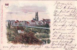 Fribourg Hängebrücke, Publicité Apotheker Rich. Brandt´s Schweizer Pillen Au Dos (24.12.07) - FR Fribourg