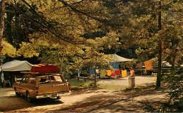 Etats-Unis - Voitures - Automobile - New York - In New York's Adironback Mts - A Beautiful Campsite - Camping - état - Adirondack