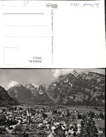 350711,Mollis Totale M. Glärnischkette U. Rauti Bergkulisse Kt Glarus - GL Glarus