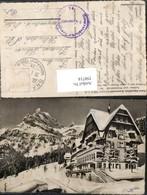 350714,Braunwald Hotel Alpenblick Bergkulisse Winterbild Kt Glarus - GL Glarus