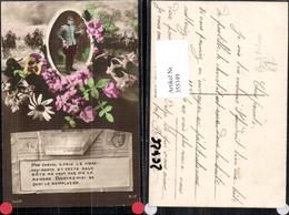 355349,Postwesen Post Briefträger Telegramm Blumen - Post & Briefboten