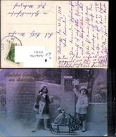 355351,Postwesen Post Kinder M. Brief Briefkasten Postkasten Schlitten Geldsack Winte - Post & Briefboten