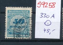 D.-Reich  Nr. 330 A   Geprüft  (s9258   ) Siehe Scan.... - Germany