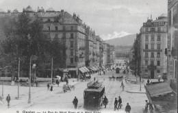 GENÈVE → Hôtel Suisse/Schweizerhof Avec Tramway Et De Passants, Ca.1910 - GE Geneva