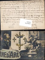 355474,Künstler Ak Ined Arc Glorifiee 1450 Beatifiee 1909 Reiterdenkmal Schwert Krone - Geschichte