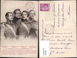 355486,Künstler Ak Les Quatre Sergents De Larochelle Bories Raoulx Goubin Pommier - Geschichte