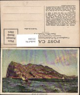 351204,Künstler AK Rock Of Gibraltar Felsen Segelboot - Gibraltar
