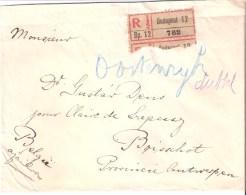 Lettre Recommandée De Budapest à Boisschot 29/07/1924 Timbres Au Verso - Covers & Documents