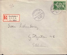 Sweden - Envelope 90 öre Lützen, Special Cancellation 6.11.32 - 1920-1936 Coil Stamps I