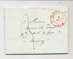 Lettre Précurseur MARCHE 1835 Vers BOUVIGNES Par DINANT - Origine Manuscrite AYE Signée Charpentier   --  WW898 - 1830-1849 (Belgique Indépendante)