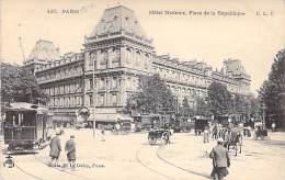 HOTELS  -75  - PARIS ( 3 ° ) : Hotel Modern , Place De La Republique - CPA - Seine - Cafés, Hôtels, Restaurants
