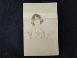 Illustrateur Raphaël Kirchner . Art Nouveau .Avant 1904. Voir 2 Scans. - Kirchner, Raphael