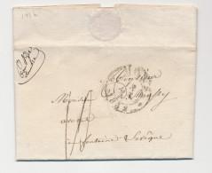 Lettre Précurseur MONS 1832 - Superbe Distribution Manuscrite PONT DE SAMBRE - Origine MERBES Le CHATEAU   --  WW899 - 1830-1849 (Belgique Indépendante)
