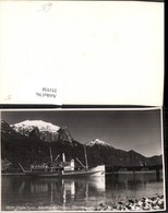 351938,Chile Lago Esmeralda Cerro Techado Dampfer Bergkulisse - Chile