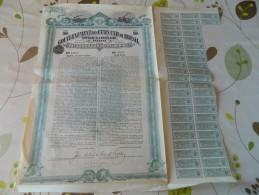 OBLIGATION 1909 DU GOUVERNEMENT DES ETATS UNIS DU BRESIL POUR EMPRUNT EN VUE CONSTRUCTION DE CHEMIN DE FER FEDERAUX - Chemin De Fer & Tramway