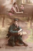 4259. LOT DE 4 CPA FANTAISIE 14 18 WW1. POILU ET SA FIANCEE - Militares