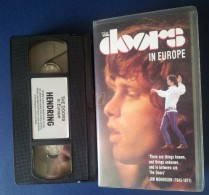 M#0R69 MUSICA - THE DOORS IN EUROPE VHS /JIM MORRISON - Concert Et Musique