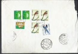 China Registered Airmail 2002 Birds  540 分 Tibetean Bunting (Emberiza Koslowi), Conservation Of Ocean Resources - 1949 - ... Volksrepubliek