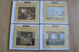 4 CD De Musique Classique - Mussorgsky, Mahler, Debussy, Ravel, Mendelssohn, ... (voir Scans) - Klassik