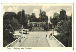 12114 Cpa   ERFURT  : Aufgang Zum Stadtpark 1944 - Erfurt