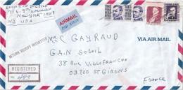 Enveloppe -   Expédiée  De  NEW - YORK   (  U.s.a. )  à  Destination  De  St - Girons  ( 09 )  Par Avion       $ - Amérique Centrale