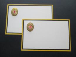 AK / Prägekarte 2 Stück Rotes Kreuz.Offizielle Kriegsfürsorge. Ungebraucht Und Sehr Guter Zustand! - Croce Rossa