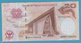 PAPUA NEW GUINEA 20 Kina 2008 35th Anniversary Bank P#36   ANIMAL Boar, Conches - Papua New Guinea
