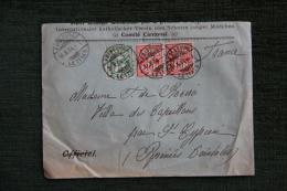 Enveloppe Timbrée Publicitaire, FRIBOURG,Oeuvre Catholique Pour La Protection De La Jeune Fille - 1882-1906 Armarios, Helvetia De Pie & UPU