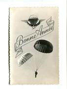 Cp - Parachutisme - Bonne Année - Paracaidismo