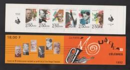 FRANCE / 1992 / Y&T N° 2747/2752 ** En Carnet Ou BC N° 2753 ** (Musiciens) X 1 - Gomme D'origine Intacte - Personaggi