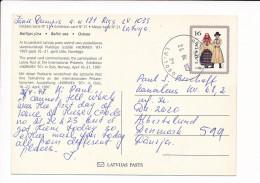 Mi P30 Stationery Ganzsache Entier Postcard - 26 April 1997 Riga-50 To Denmark - Norwex '97 - Latvia