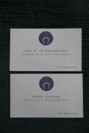 2 Cartes De Visite Du Président Et Du Secrétaire De La REAL SOCIEDAD HIPICA DE SAN SEBASTIAN - Cartes De Visite
