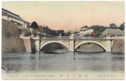 Imperial Palace Of Nijiubashi Tokyo - Bridge - Sankobo Shitaya - Postmark 1912 - Tokio