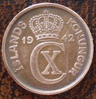 (J) ICELAND: 5 Aurar 1942 XF (1590) - Islande