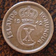 (J) ICELAND: 2 Aurar 1942 XF (1571) - Islandia