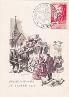 Carte-Maximum TUNISIE N°Yvert 324 (JOURNEE DU TIMBRE 1948) Obl Sp Ill 1er Jour - Lettres & Documents