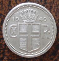 (J) ICELAND: 25 Aurar 1940 XF (2513) - Islande