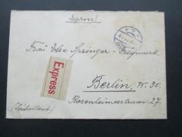 Österreich 1925 Nr. 387 Und 393 MiF Express / Eilbrief. Wien 68 Nach Berlin. - Briefe U. Dokumente